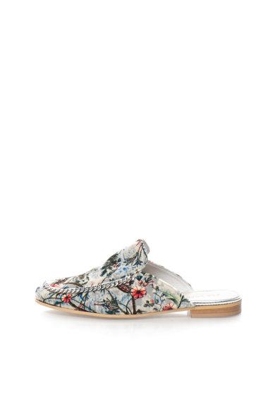 Papuci loafer multicolori catifelati Catena de la Zee Lane