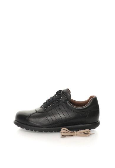 Pantofi negri de piele Pelotas Ariel de la Camper