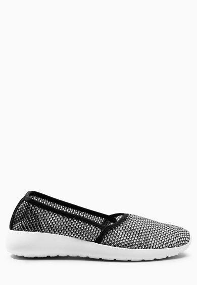 Pantofi slip-on negru cu alb de la NEXT