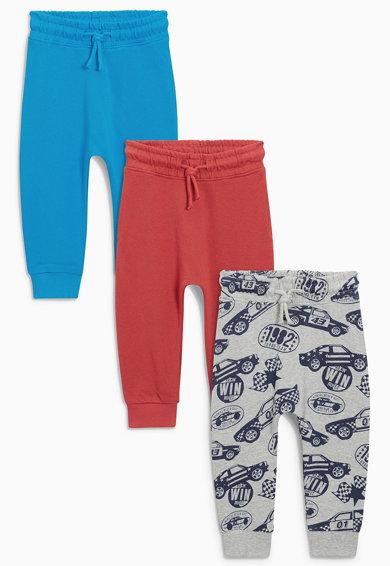 Set de pantaloni jogger multicolori Car – 3 perechi de la NEXT