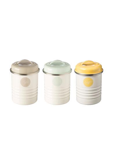 Set alb de recipiente pentru depozitare - 3 piese
