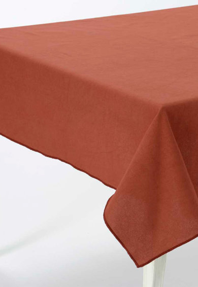 Fata de masa rosu Bordeaux Romy 150X150