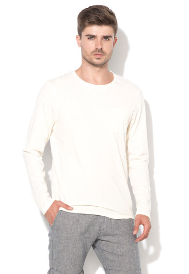 Bluza alb unt Cliff de la Selected Homme