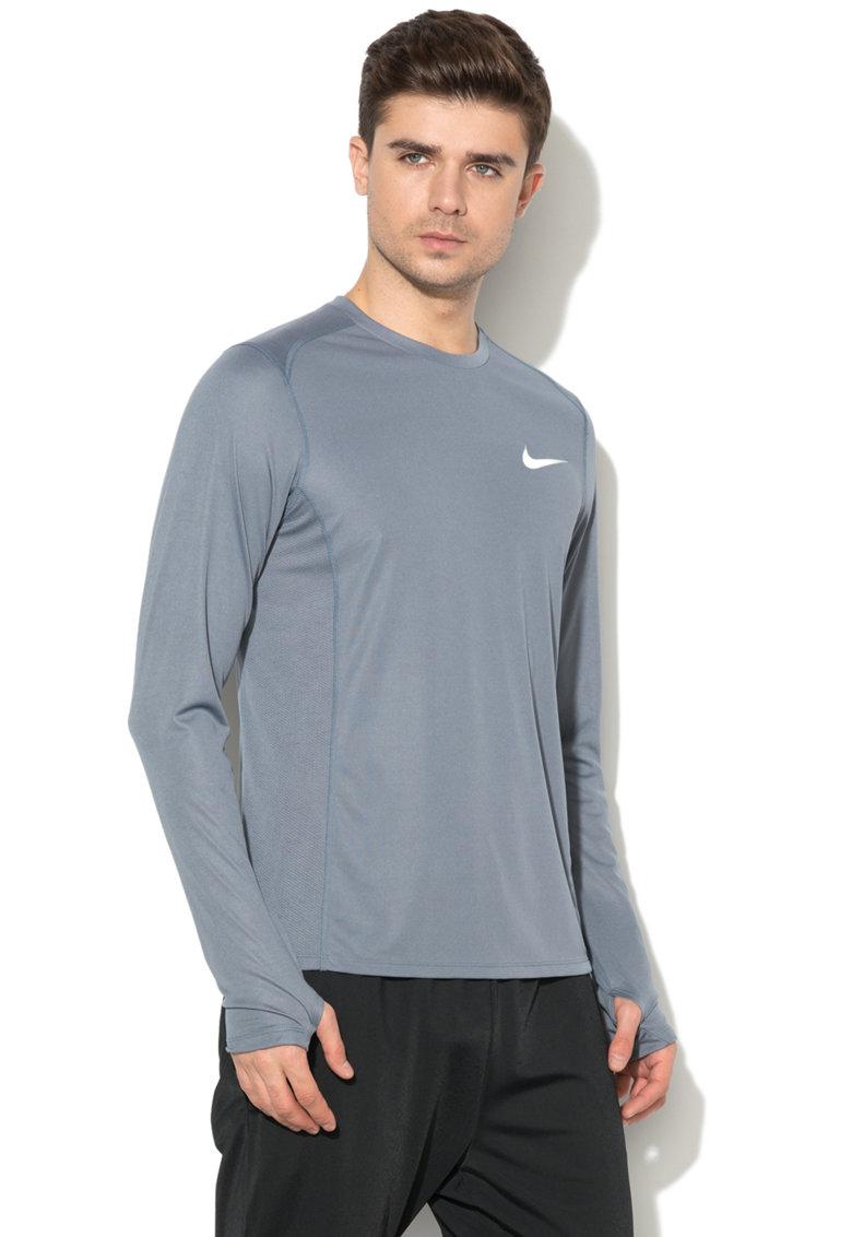 Bluza cu detalii de plasa pentru alergare de la Nike