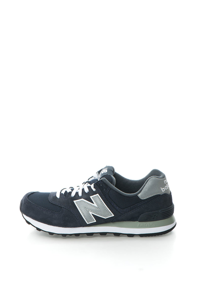 Pantofi de piele intoarsa cu garnituri de plasa 574 de la New Balance