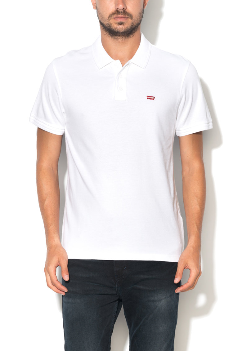 Levis Tricou polo alb cu logo