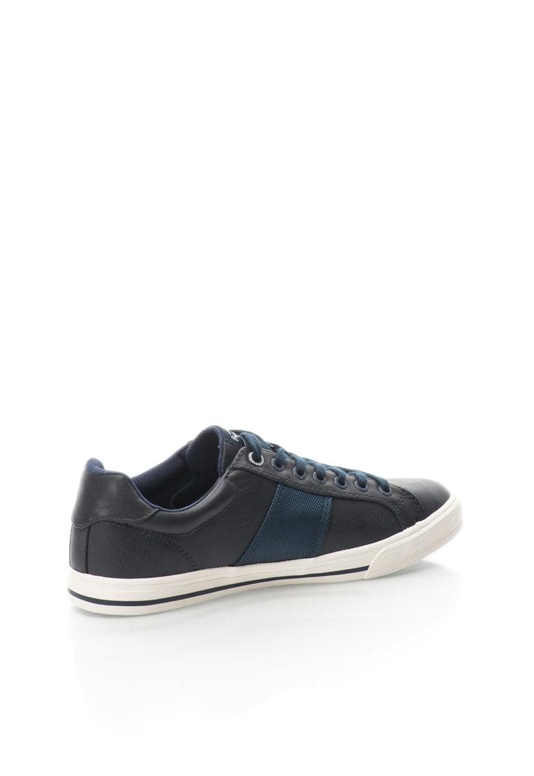 Pepe Jeans London Pantofi negru cu bleumarin Coast