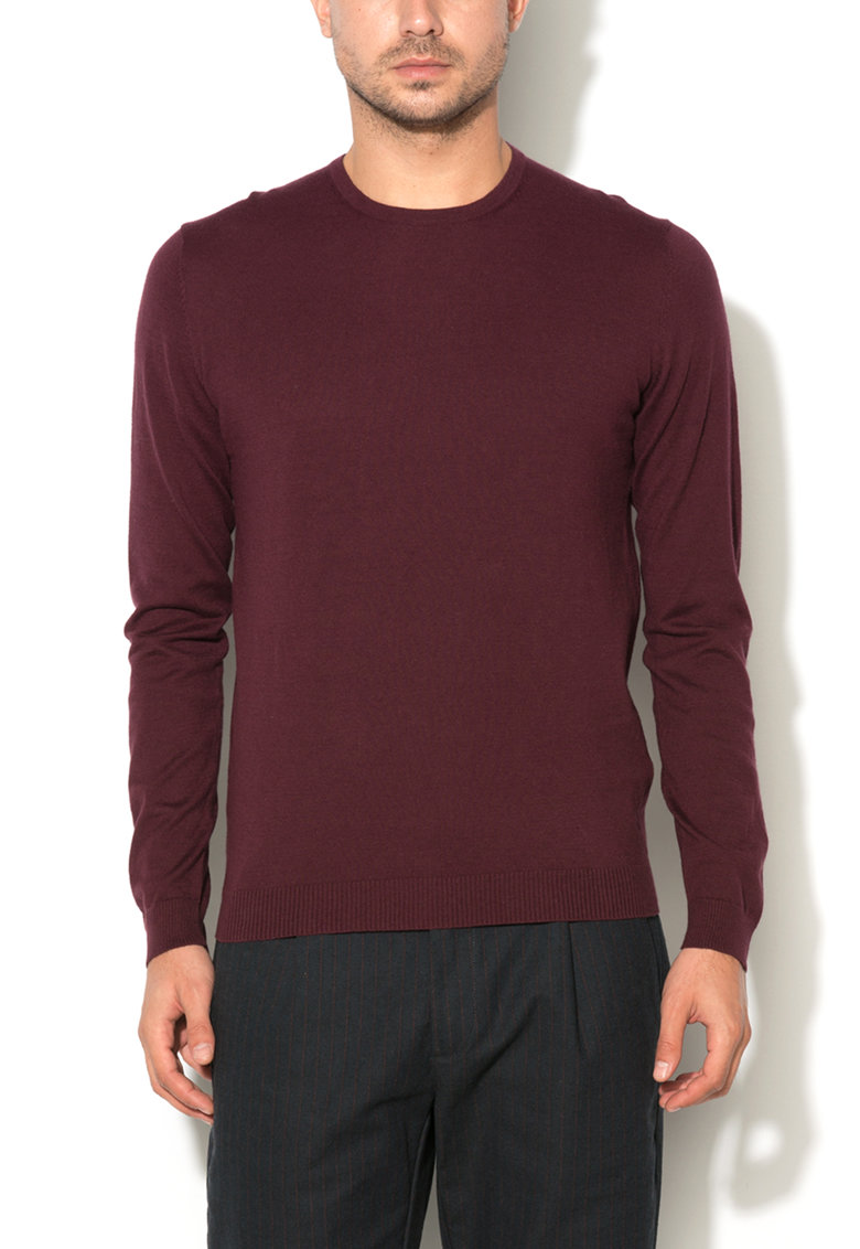 Pulover rosu Bordeaux de la United Colors of Benetton 14RRU1084-28Z