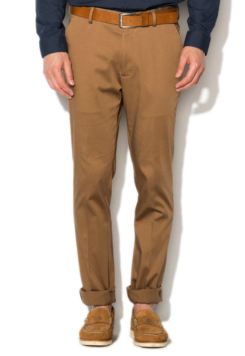 New Look Pantaloni slim fit maro camel