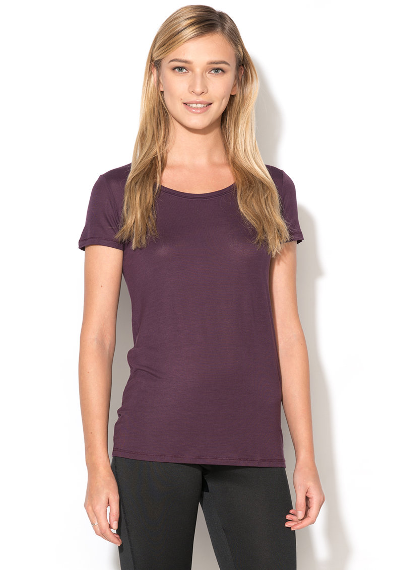 Tricou violet pruna de casa Undercolors of Benetton