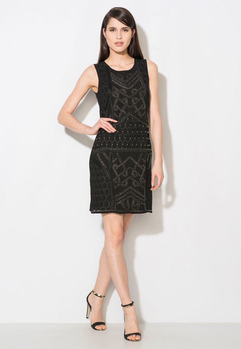 Zee Lane Collection Rochie neagra cu broderie si paiete