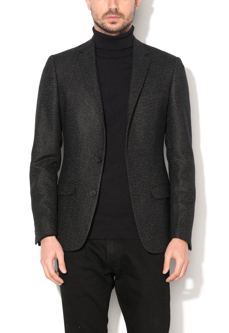 New Look Sacou negru cu model pestrit