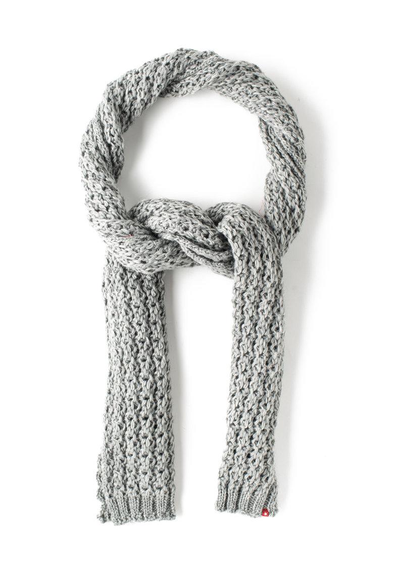 Fular gri tricotat cu perforatii Agueda de la Big Star