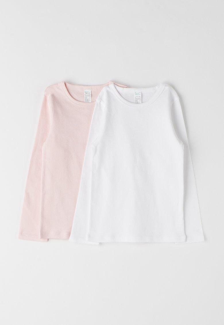 Undercolors of Benetton Set de bluze alb cu roz deschis – 2 piese
