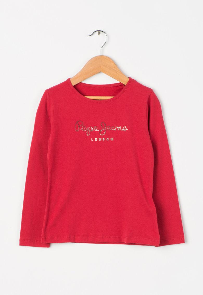 Bluza rosu granat cu decoratiuni Charlene de la Pepe Jeans London