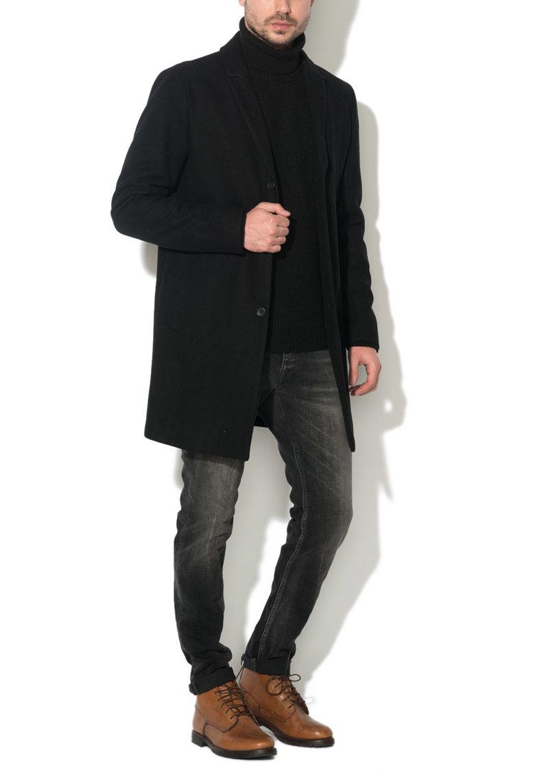 JackJones Haina neagra din amestec cu lana Christian