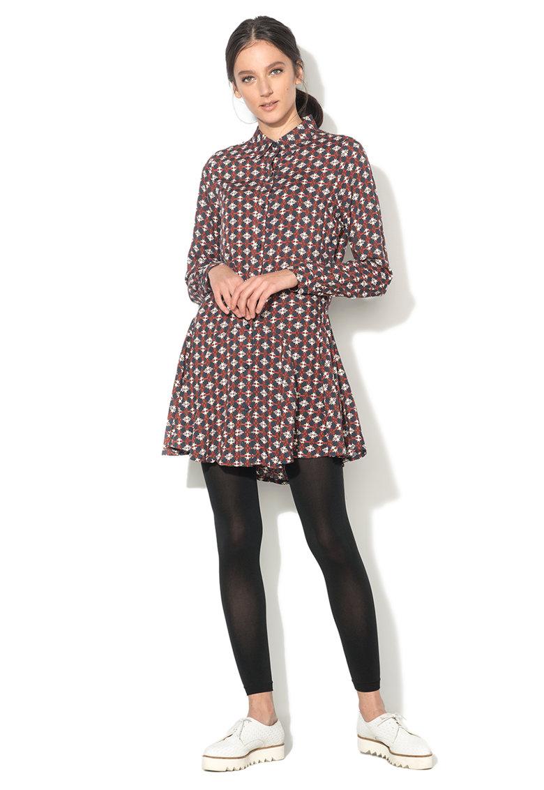 BRAVE SOUL Rochie tip camasa multicolora cu imprimeu Caprice