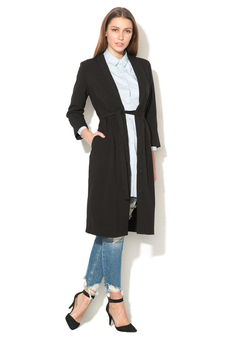 Rochie lunga tip camasa neagra Vander de la Only