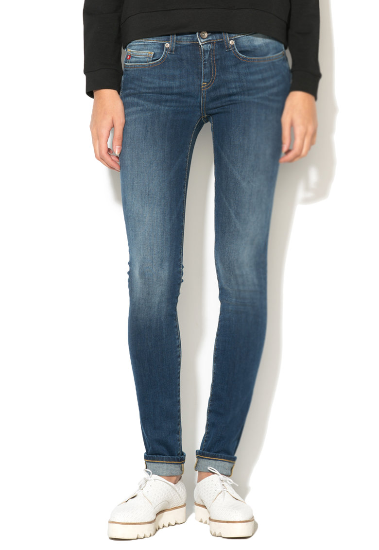 Big Star Jeansi conici skinny fit albastri Skyler 391