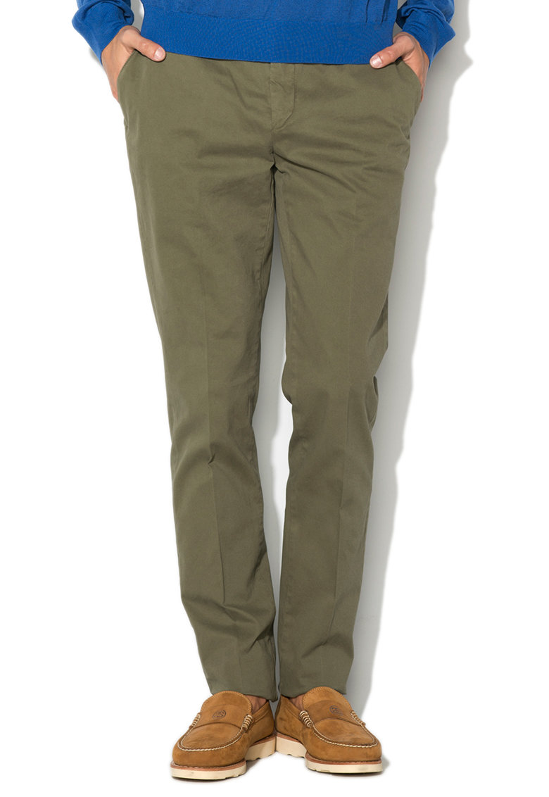 Hackett London Pantaloni chino slim fit verde oliv