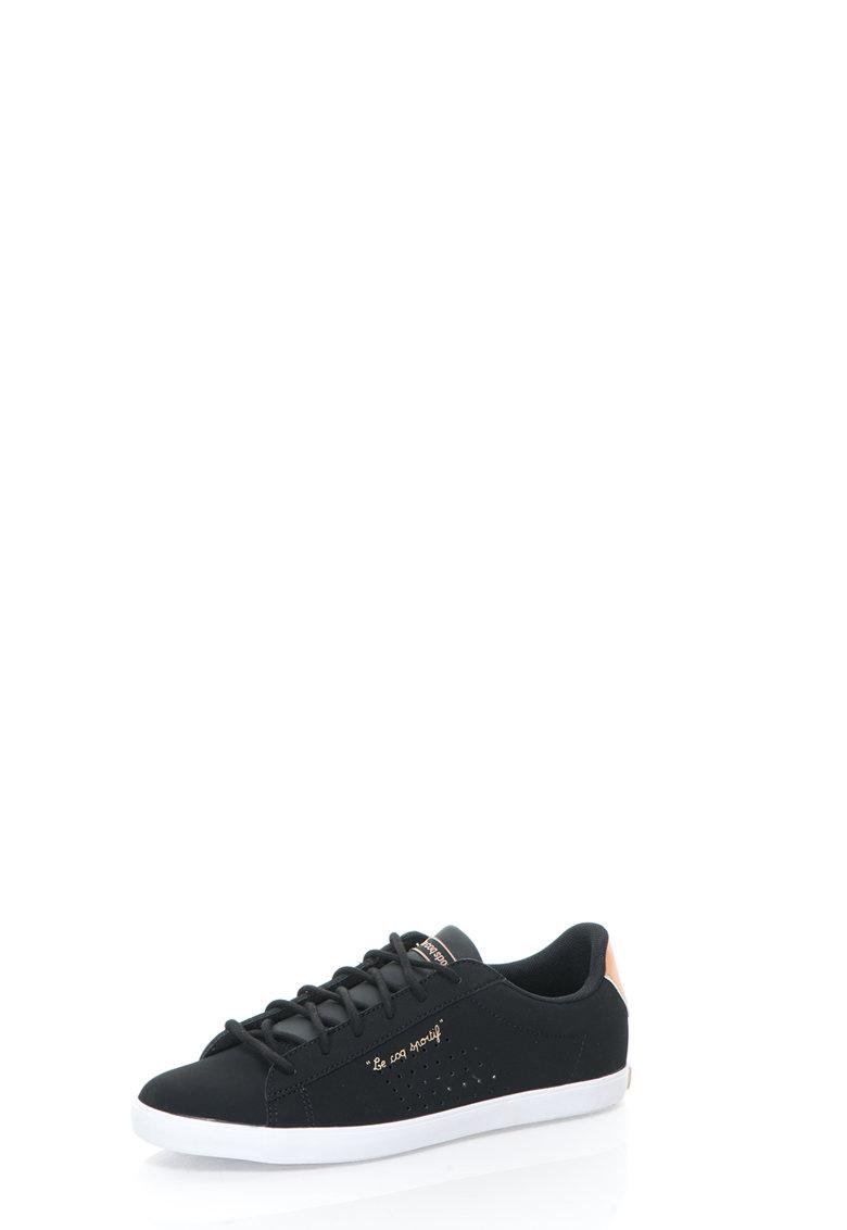 Le Coq Sportif Pantofi casual negri perforati Agate