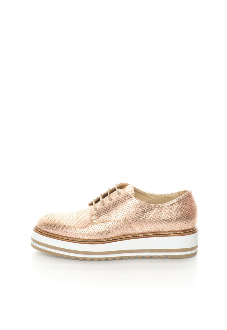 Zee Lane Pantofi Oxford wedge auriu rose Sibil