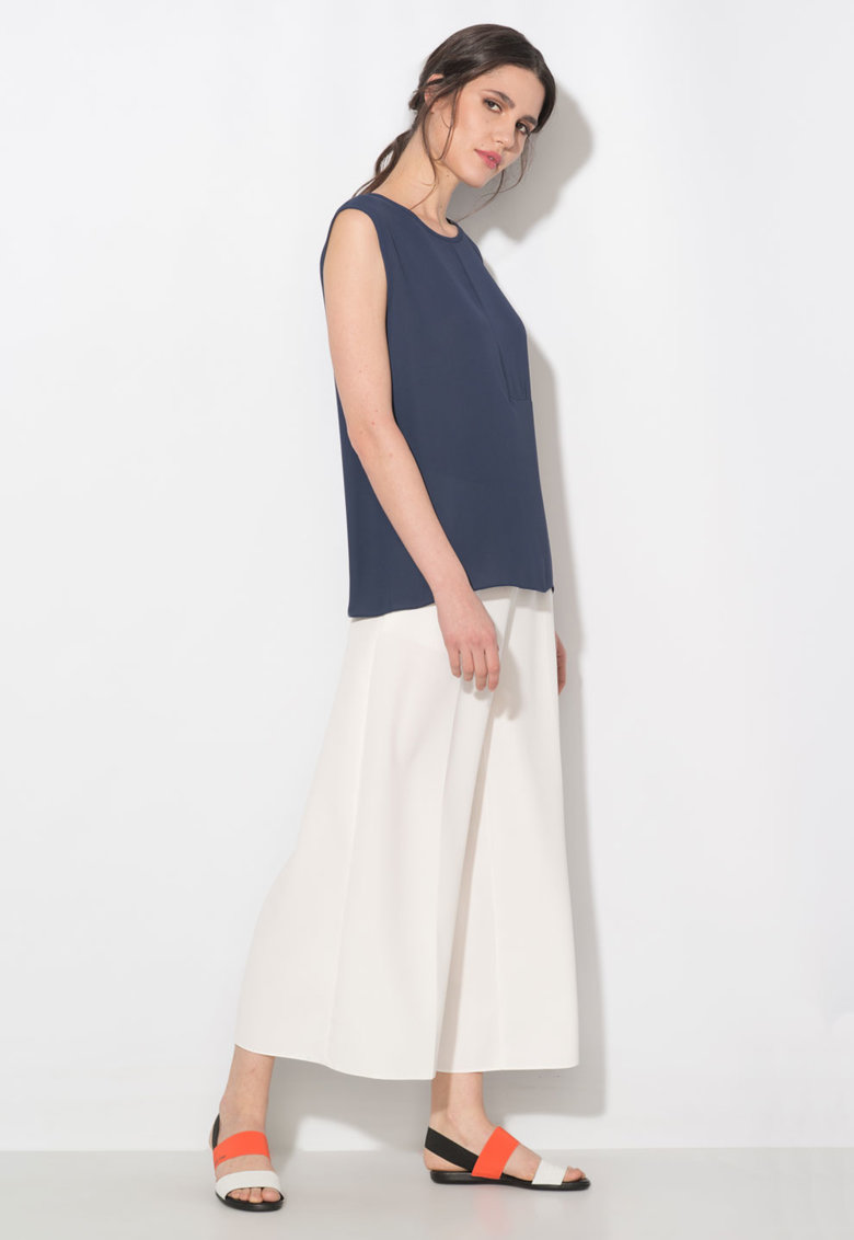 Zee Lane Collection Bluza bleumarin cu o maneca
