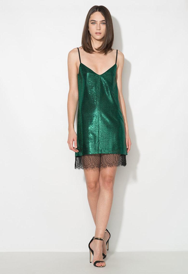 Zee Lane Collection Rochie verde tip furou cu terminatie din dantela