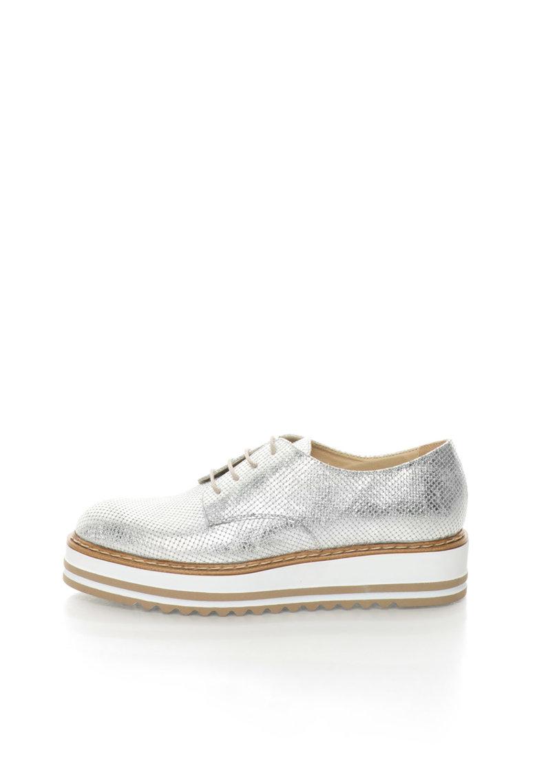 Zee Lane Pantofi Oxford wedge argintii Sibil