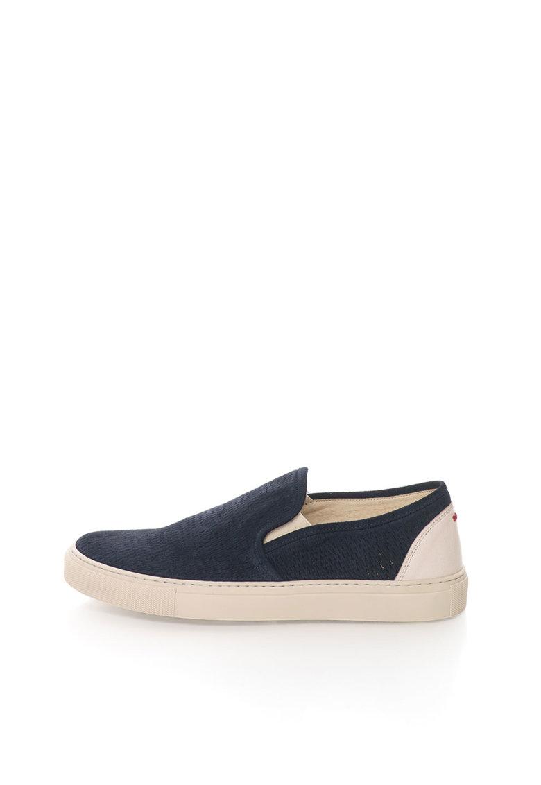 Zee Lane Pantofi slip-on bleumarin de piele intoarsa