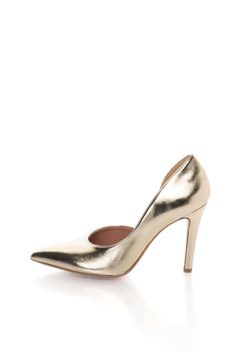 Zee Lane Pantofi d`Orsay aurii de piele Anne