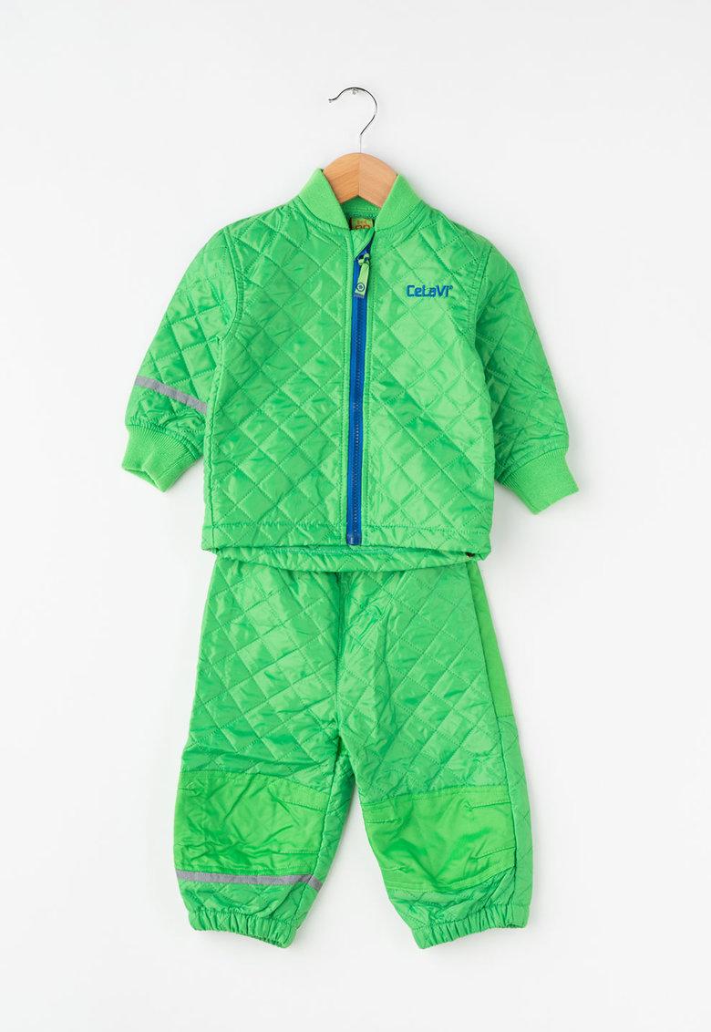 Set verde de jacheta si pantaloni matlasati de la CeLaVi