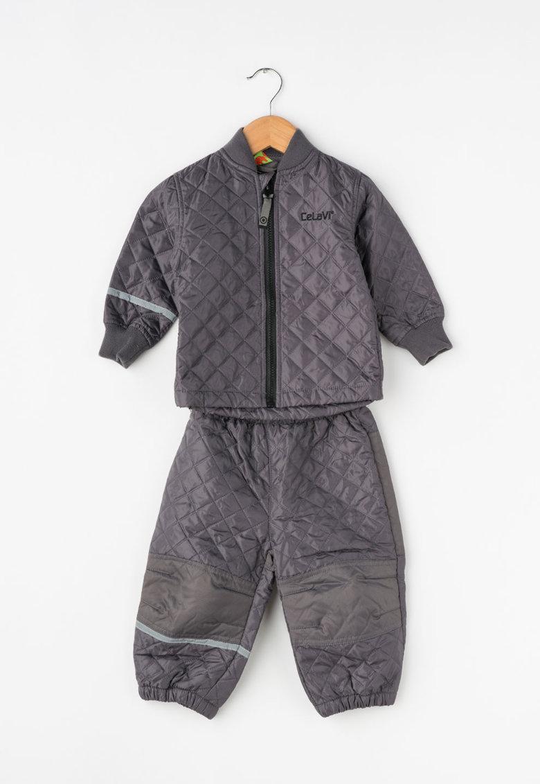 CeLaVi Set gri de jacheta si pantaloni matlasati