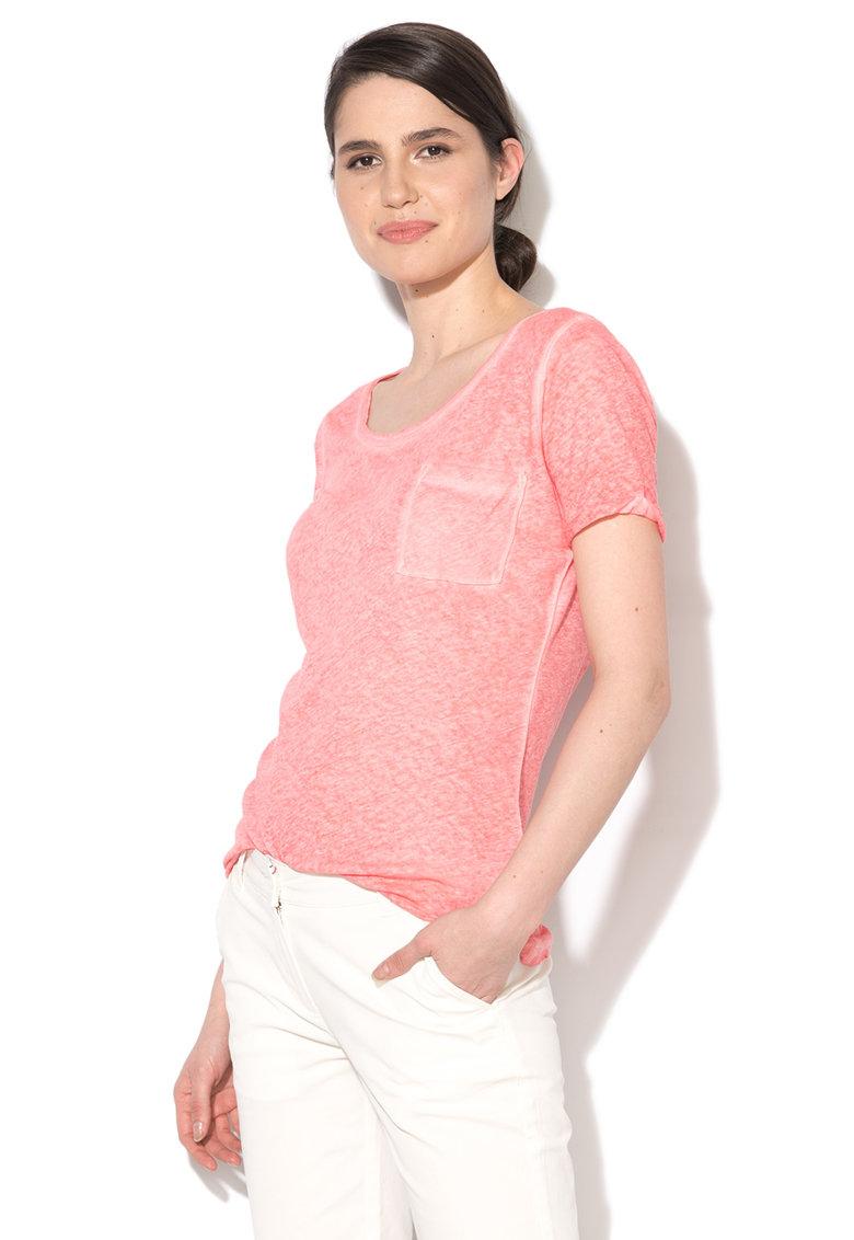 Napapijri Tricou roz cu sectiuni transparente Sylvania