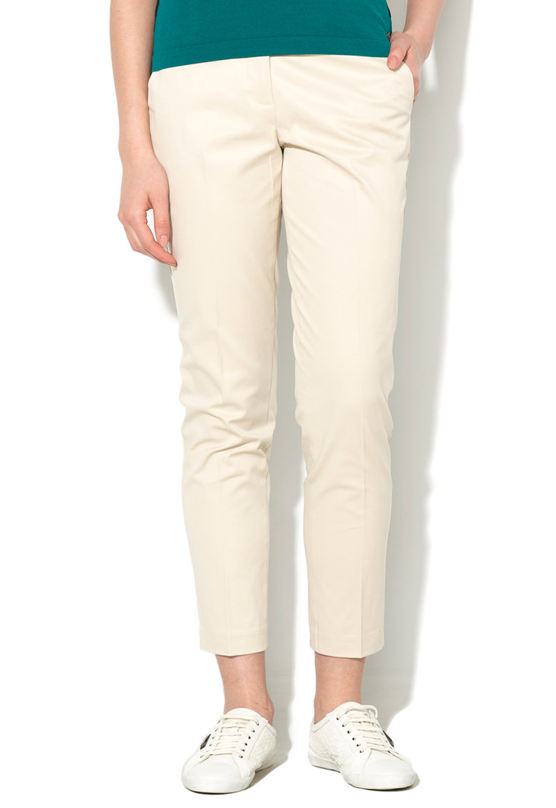 United Colors Of Benetton Pantaloni crop ecru