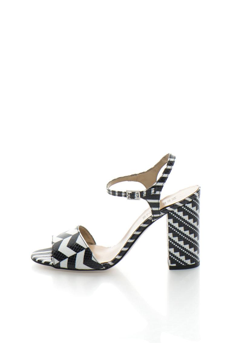 Zee Lane Sandale negru cu alb cu model geometric