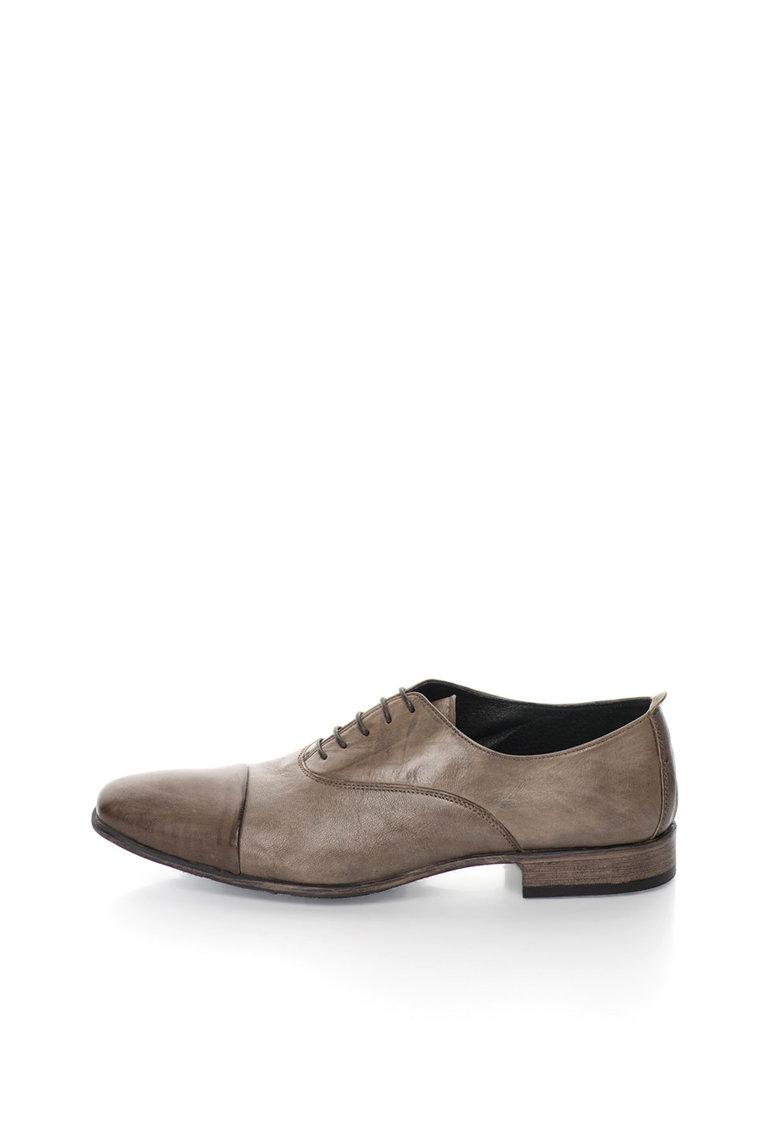 Zee Lane Pantofi Oxford maro taupe de piele