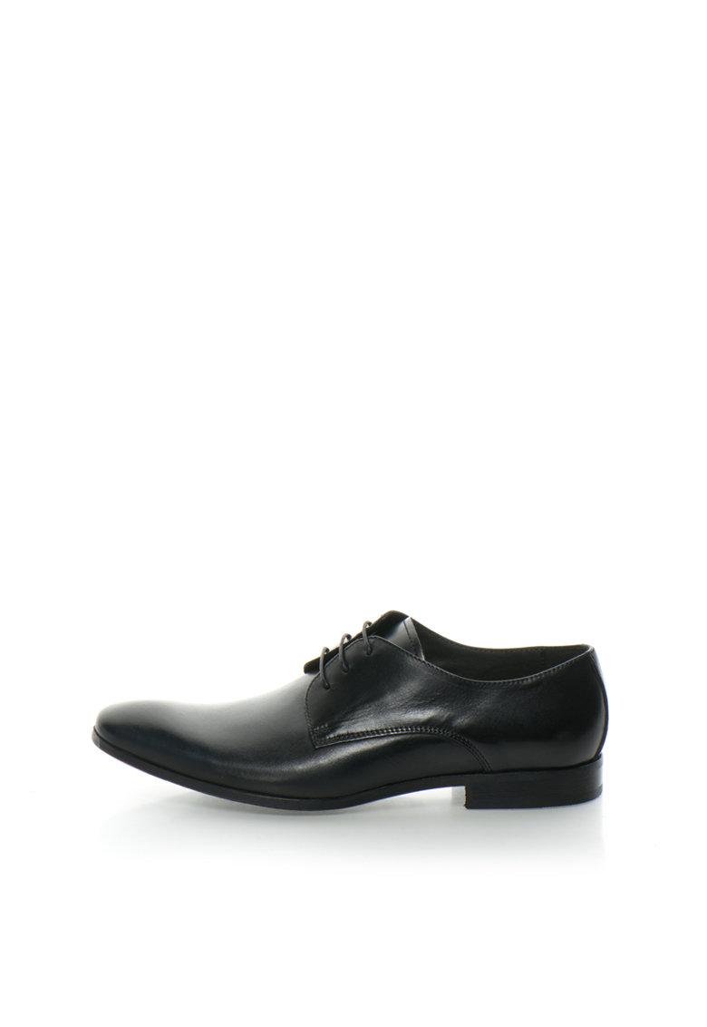 Zee Lane Collection Pantofi derby negri de piele