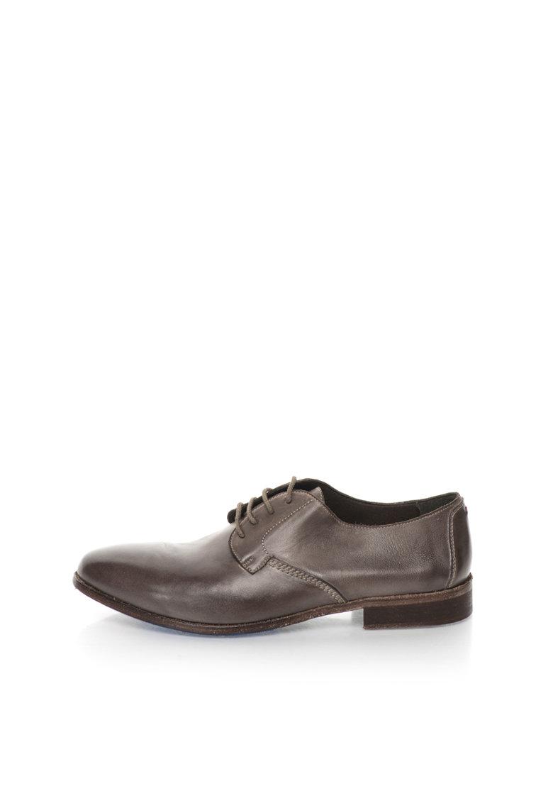 Zee Lane Collection Pantofi gri de piele Papua