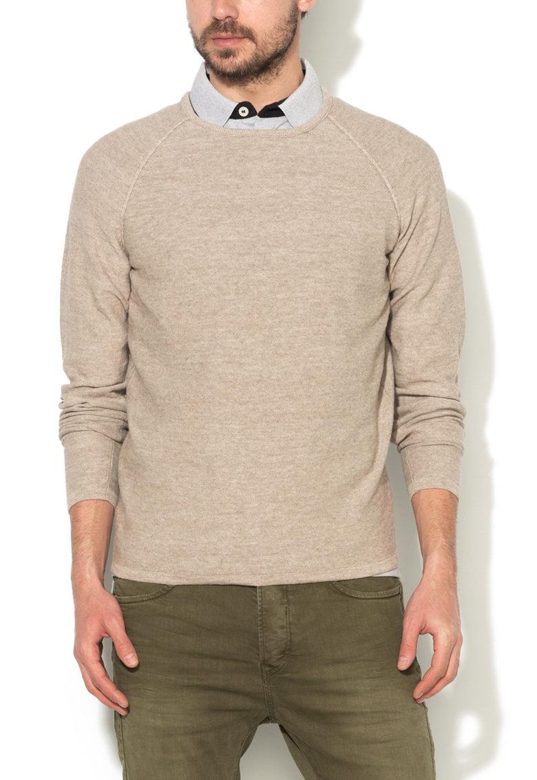 JackJones Pulover bej melange tricotat fin Trevor