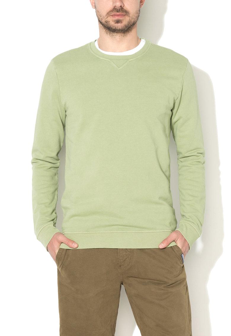 United Colors Of Benetton Bluza sport verde fistic de bumbac organic