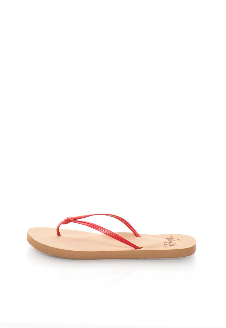 Papuci flip-flop albi cu detaliu innodat Lahaina