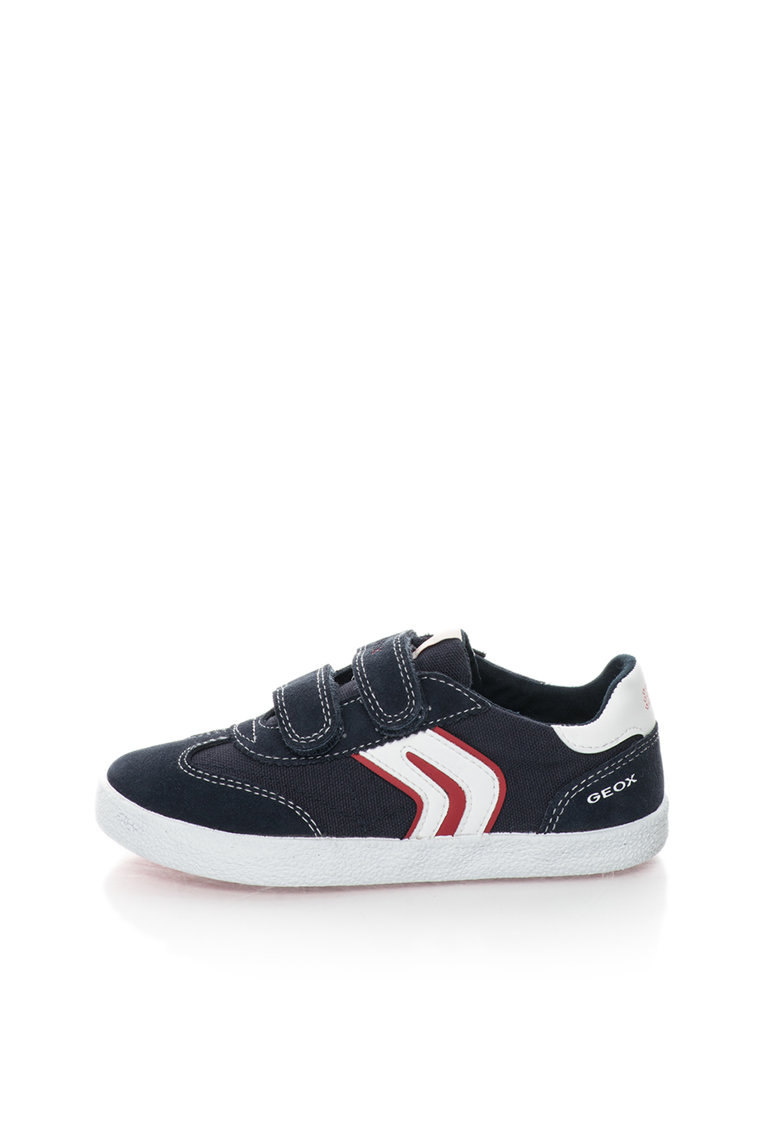 Geox Pantofi sport bleumarin cu garnituri de piele intoarsa Kiwi