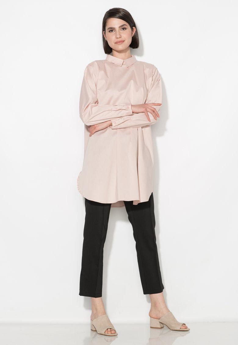 Zee Lane Collection Camasa roz prafuit supradimensionata