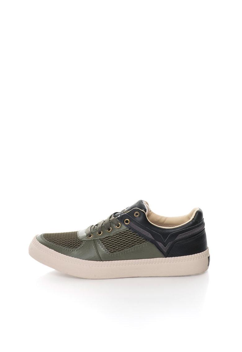 Diesel Pantofi sport negri de piele Spaark