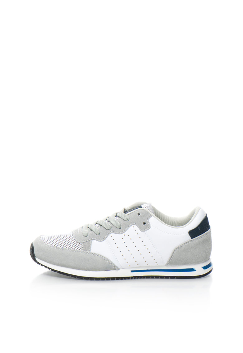 Pantofi Sport Alb Cu Gri
