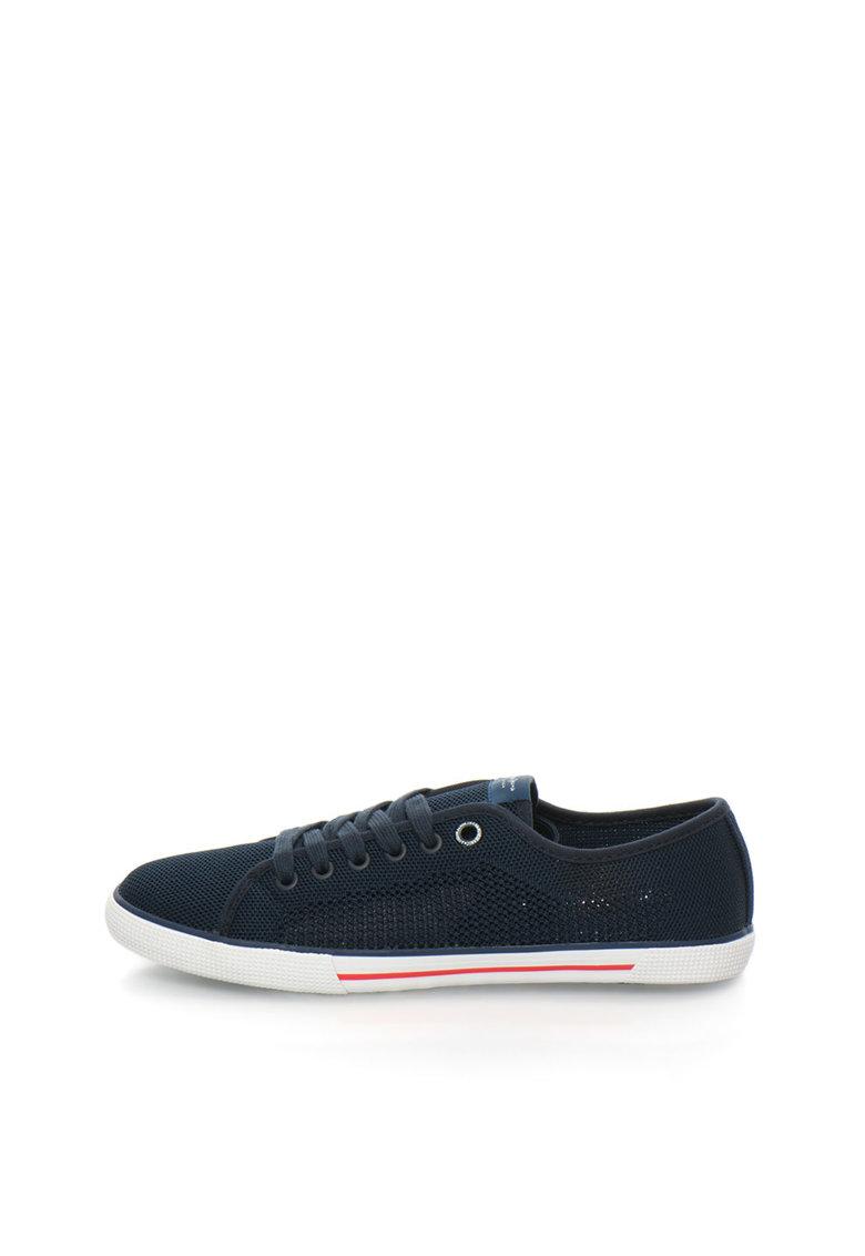 Pepe Jeans London Pantofi sport bleumarin inchis tricotati Aberman