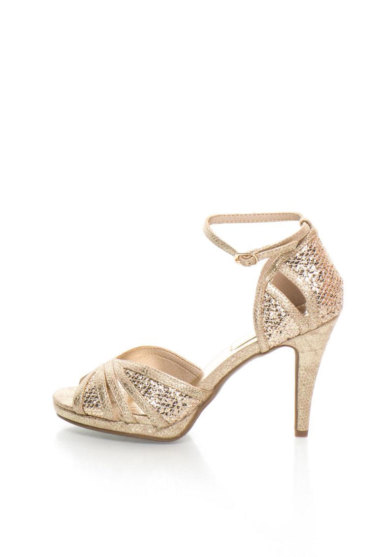 XTI Sandale aurii stralucitoare