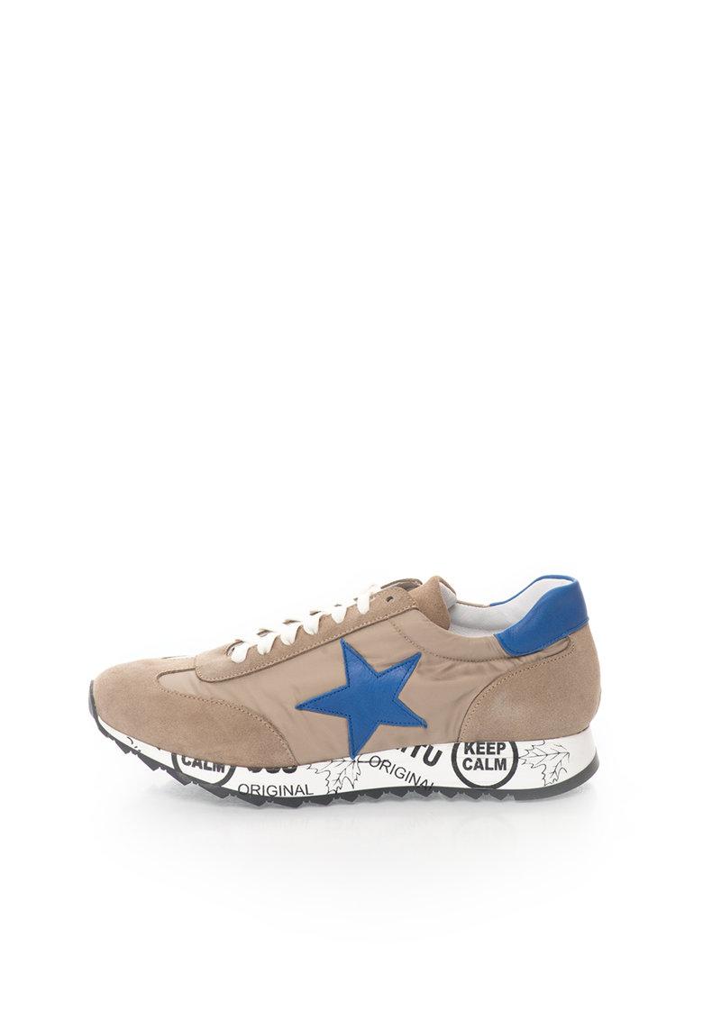 Zee Lane Pantofi casual bleumarin cu alb cu platforma wedge ascunsa