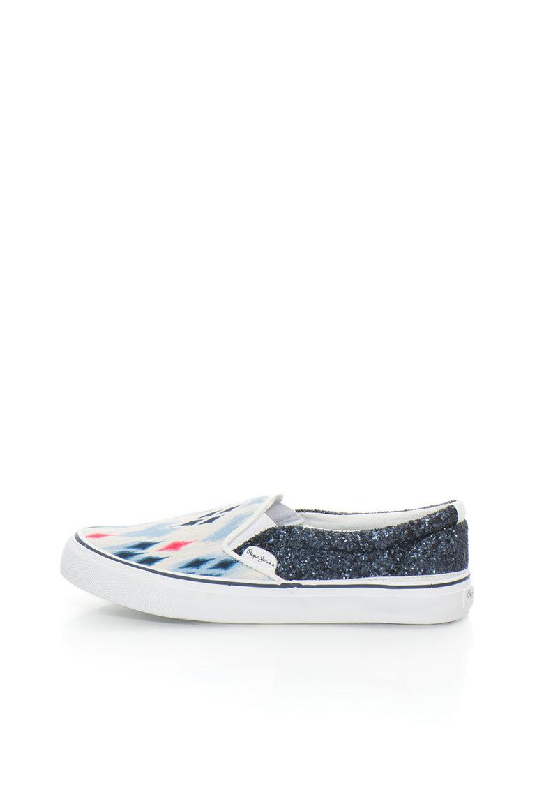 Pepe Jeans London Pantofi slip-on multicolori cu insertii stralucitoare